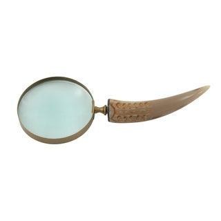 Brown Brass Horn Magnifying Glass