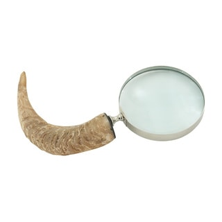 Brass Horn Decorative Magnifying Glass