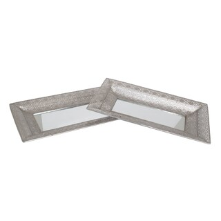 Silver Decorative Tray (Set of 2 )