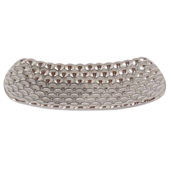 Silver Ceramic Plate