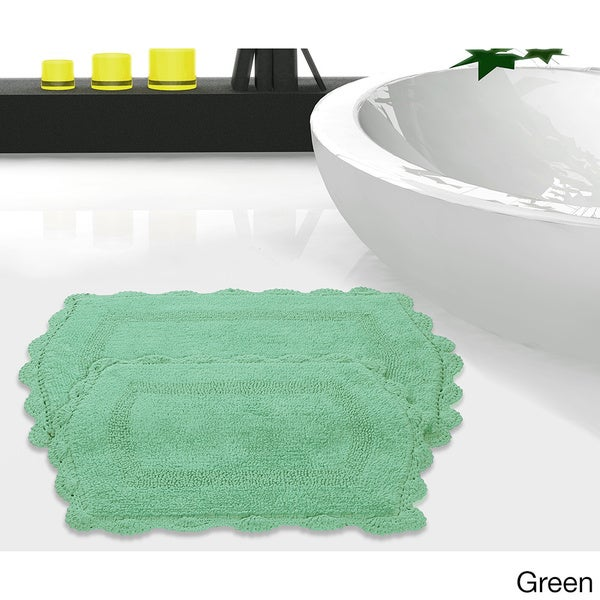 Green bathroom rug