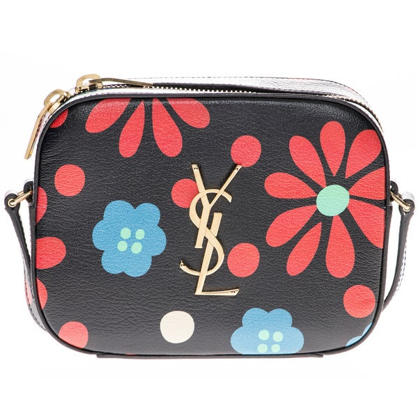 Saint Laurent Flower Print Monogram Camera Bag