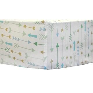 My Baby Sam Follow Your Arrow Aqua Crib Sheet