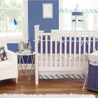 My Baby Sam Follow Your Arrow Navy crib bumper