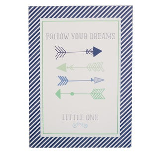 My Baby Sam Follow Your Arrow Navy Wall Art