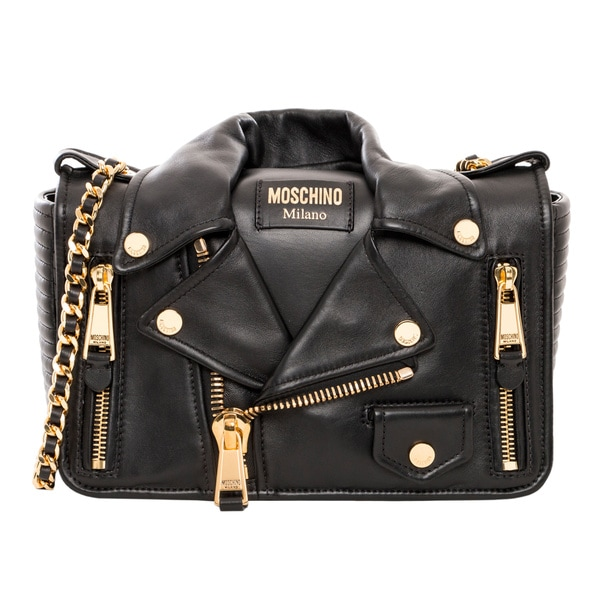 Moschino Biker Jacket Medium Shoulder Bag