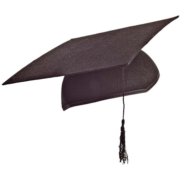 Adult Black Graduation Mortarboard Cap with Tassel
