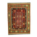 Herat Oriental Afghan Hand-woven Tribal Vegetable Dye Kilim Rust/ Light Green Wool Area Rug (5'2 x 7'3)