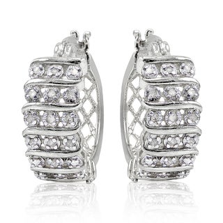 DB Designs 1/4ct TDW Diamond S Design Hoop Earrings (I-J, I2-I3)