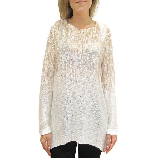 Women's Rose Gold Foil Print Pullover Top