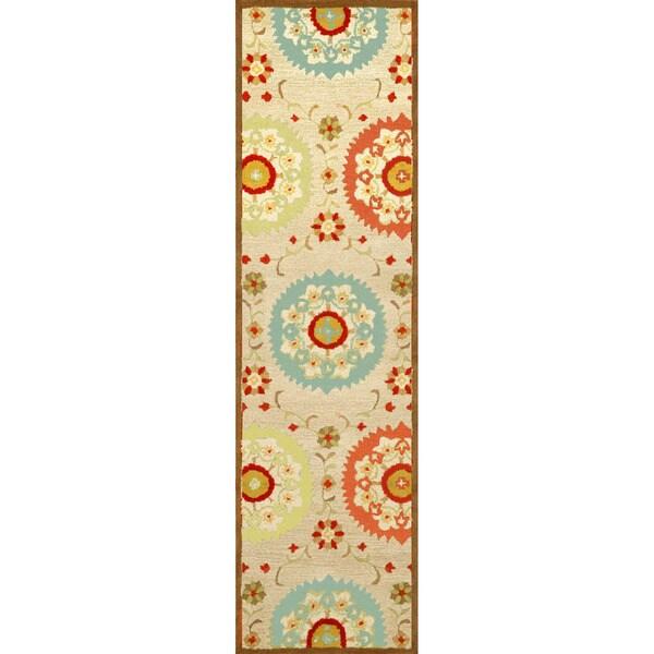 Detailed Flower Indoor Rug (2'3 x 8) - 2'3 x 8 15592477
