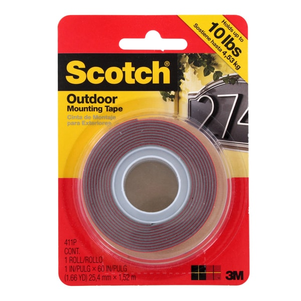 Scotch Outdoor Mounting Double Sided Tape 10-pound Capacity