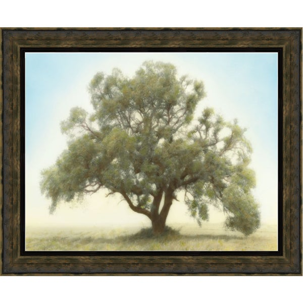 William Guion 'Oak & Blue Sky' 40 x 28 Framed Art Print