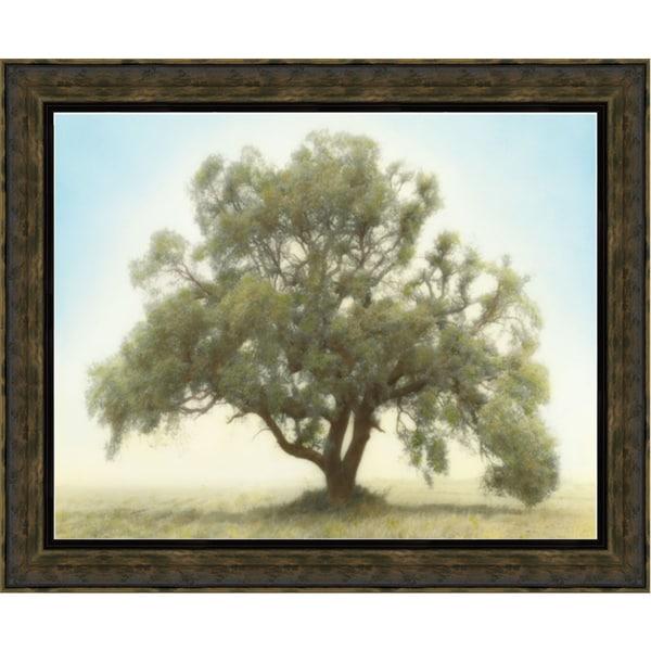 William Guion 'Oak & Blue Sky' 40 x 28 Framed Art Print