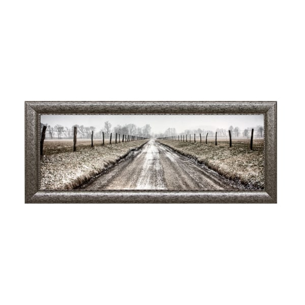 Todd McPhetridge-Picket Path 40 x 16 Framed Art Print