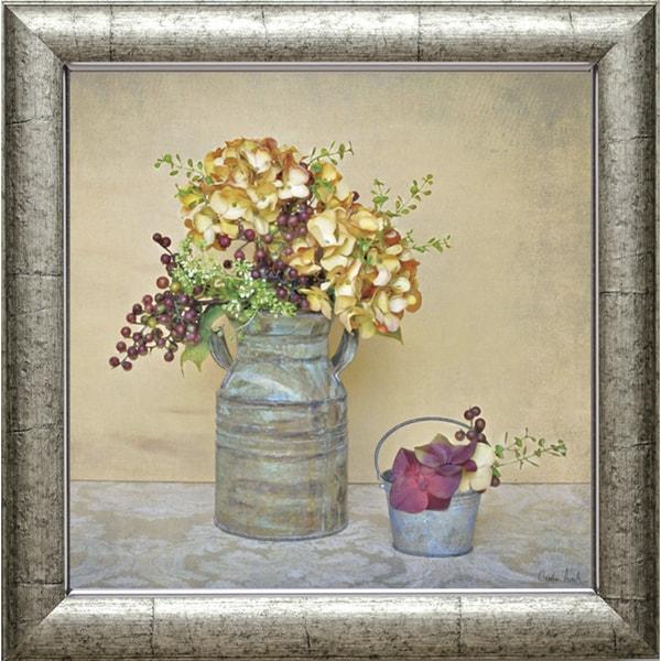Atria Cristin-Caramel Hydrangeas 22 x 22 Framed Art Print