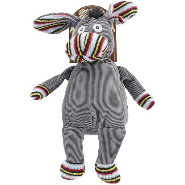 Nandog My BFF Knit & Corduroy Plush Toy Gray Donkey