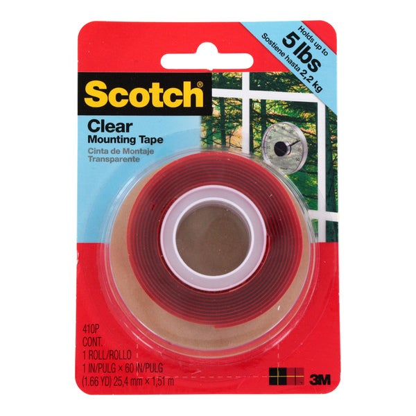 Scotch Clear Mounting Tape 5-pound Capacity