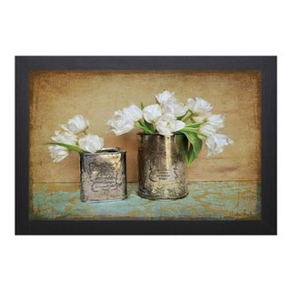 Atria Cristin-Vintage Tulips l 28 x 22 Framed Art Print
