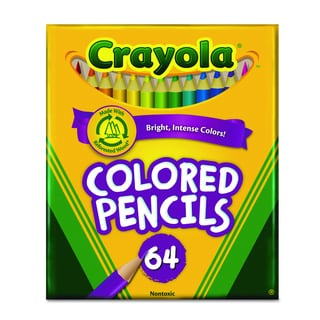 Crayola Assorted Colored Woodcase Pencil (2 Packs of 64 Pencils)