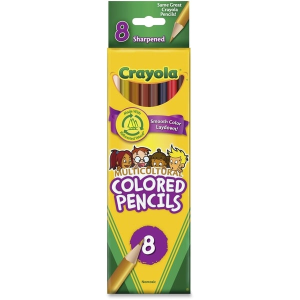 Crayola Multicultural Assorted Colored Woodcase Pencils (10 Packs of 8 Pencils)