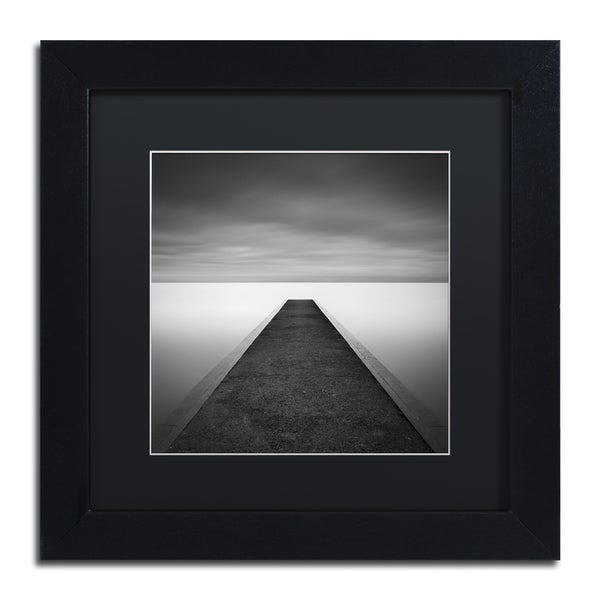 Dave MacVicar 'Edge Of Reality' Black Wood Framed Canvas Wall Art