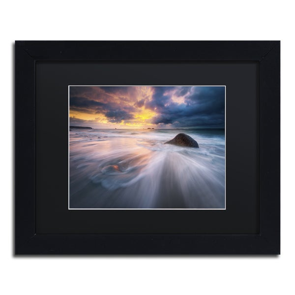 Mathieu Rivrin Ocean Painting Black Wood Framed Canvas