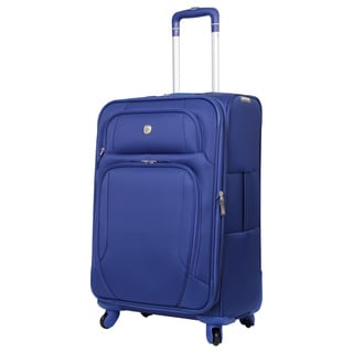 SwissGear Blue 24-inch Lightweight Expandable Spinner Upright Suitcase