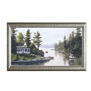 Bill Saunders 'Cottage Country' 40 x 24 Framed Art Print