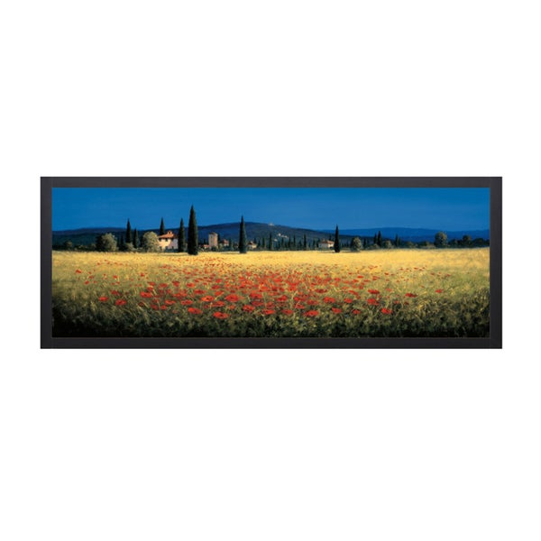 David Short-Tuscan Panorama 40 x 16 Framed Art Print