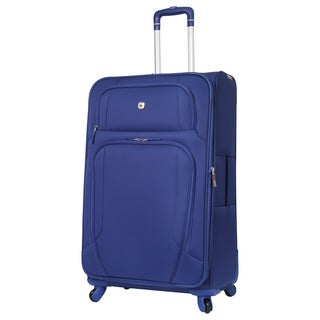 SwissGear Blue 28-inch Lightweight Expandable Spinner Upright Suitcase