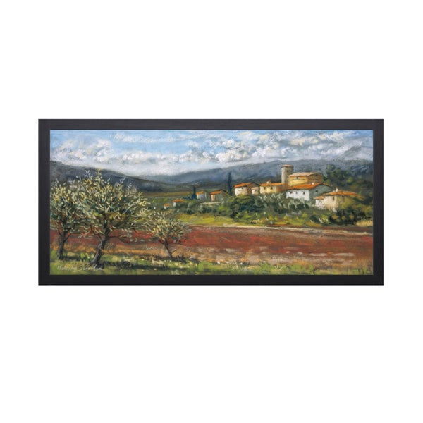 Malcolm Surridge-Hillside Olives 28 x 16 Framed Art Print