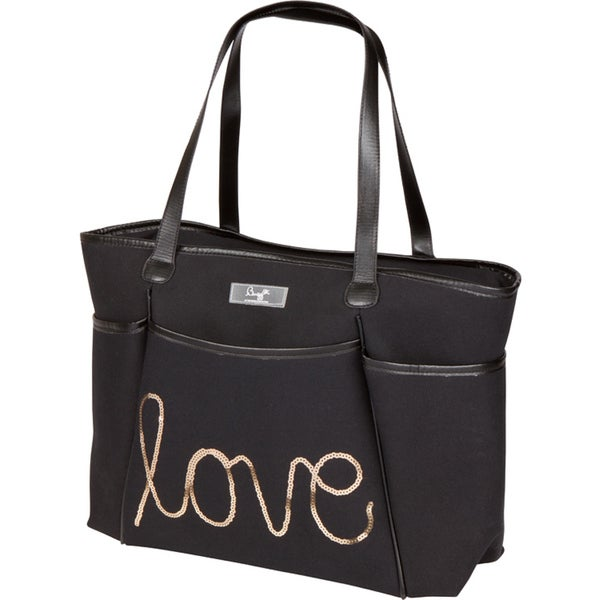 Bumble Collection Love Sequin Zipper Tote