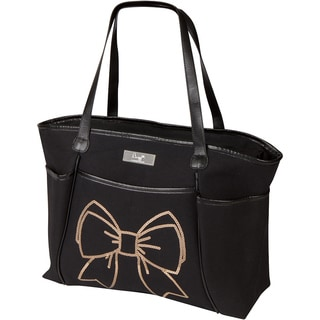 Bumble Collection Bow Sequin Zipper Tote