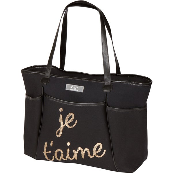 Bumble Collection Je' Taime Sequin Zipper Tote