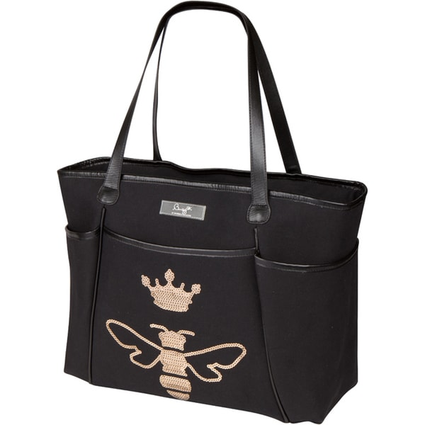 Bumble Collection Queen Bee Sequin Zipper Tote