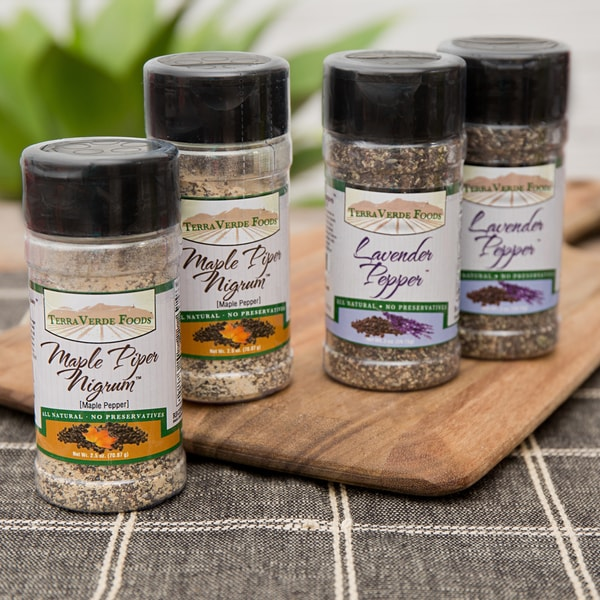 Terra Verde Foods Lavender and Maple Pepper Spice Bundle (Set of 4)