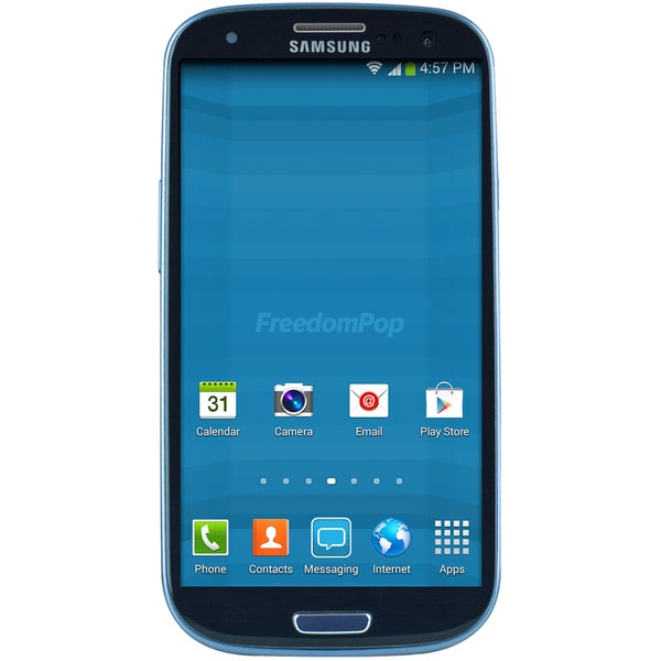 FreedomPop Samsung Galaxy SIII Blue 4.8-inch 16GB Android 4.4 Smartphone (Refurbished)