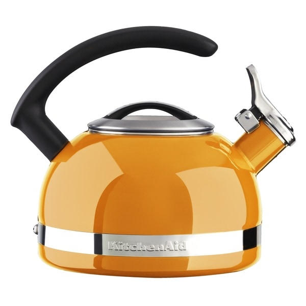KitchenAid 2QT Orange Porcelain Enamel Kettle