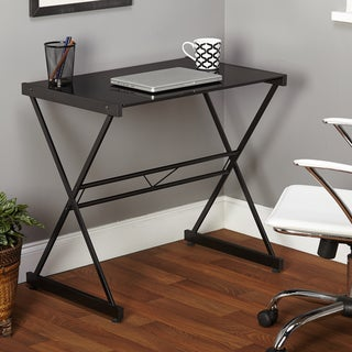 Simple Living Black Ava Glass Desk