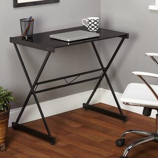 Simple Living Black Ava Glass Desk