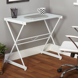 Simple Living White Ava Glass Desk