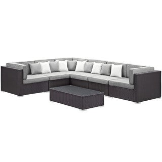 """Modway """"Fondle"""" 7-Piece Outdoor Patio Sectional Set"""