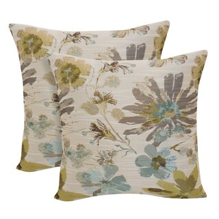 Perla Woven Floral 18-inch Throw Pillow (Set of 2)