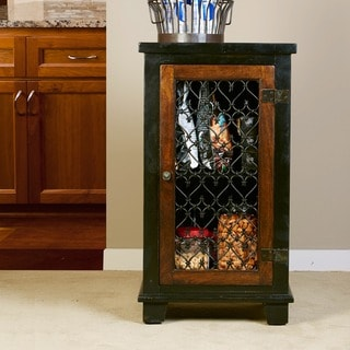 Hillsdale Furniture's Gibbins Cabinet with Metal Insert Door