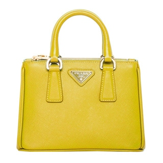 Prada Chartreuse Saffiano Leather Mini Tote