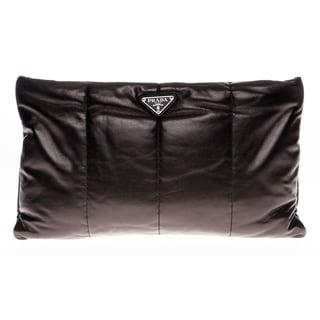Prada Bomber Nappa Leather Clutch