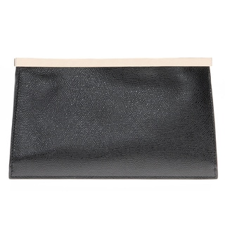 Valextra Onda Black Clutch