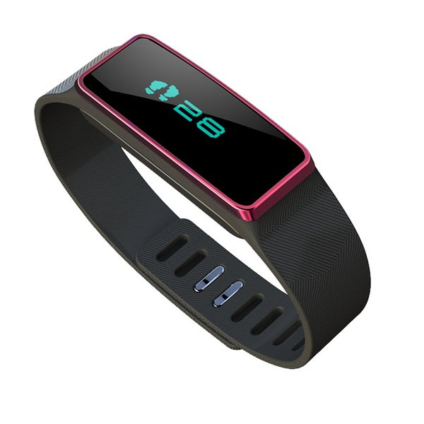 Sports Bracelet Pedometer with BlueTooth in Red/ Black