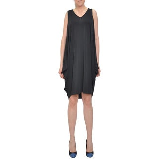Bellario Women's Comfortable Open Back Black Dress